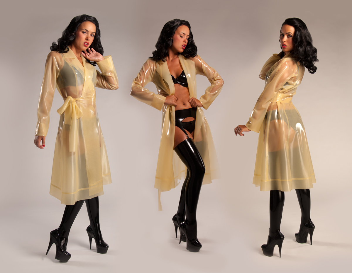 "alt=""New Syren Latex Trench Coat"""